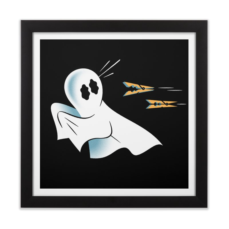 A Fearful Phantom (Black) Home Framed Fine Art Print by The Pure Bluff