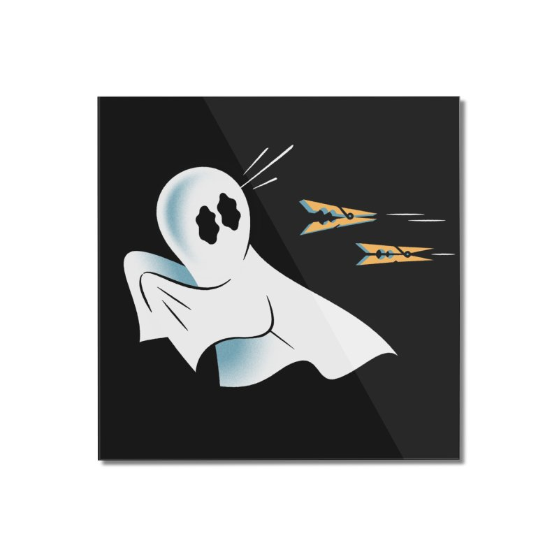 A Fearful Phantom (Black) Home Mounted Acrylic Print by The Pure Bluff