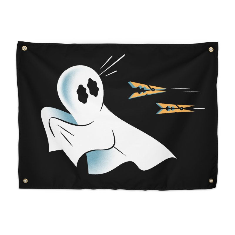 A Fearful Phantom (Black) Home Tapestry by The Pure Bluff