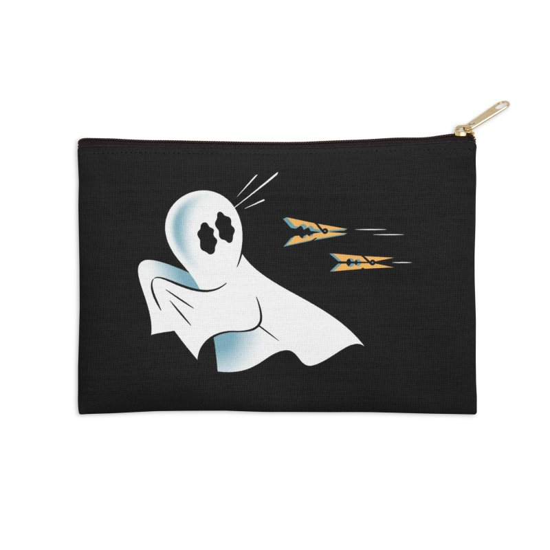 A Fearful Phantom (Black) Accessories Zip Pouch by The Pure Bluff