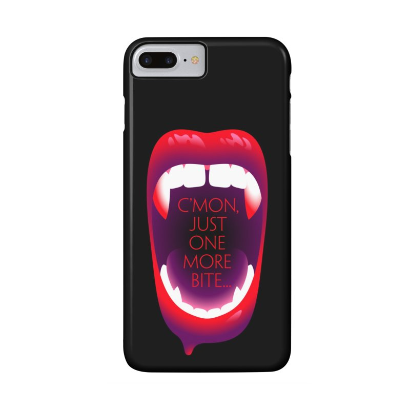 One More Bite (Black) Accessories Phone Case by The Pure Bluff