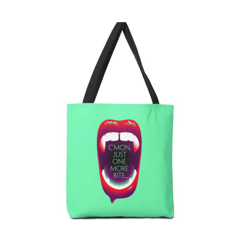 One More Bite (Mint) Accessories Tote Bag Bag by The Pure Bluff