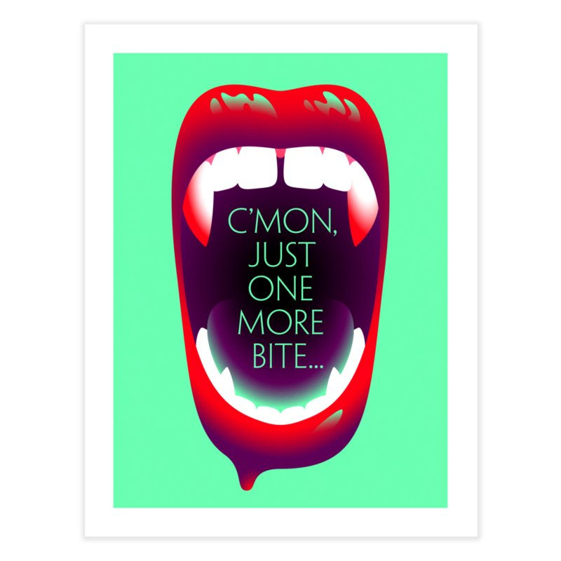 One More Bite (Mint) Home Fine Art Print by The Pure Bluff