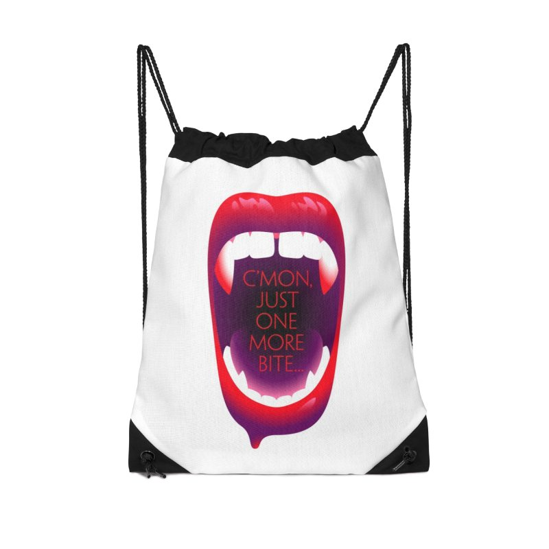 One More Bite (White) Accessories Drawstring Bag Bag by The Pure Bluff
