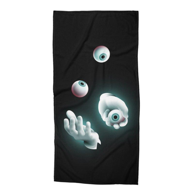 Eyeball Juggler Accessories Beach Towel by The Pure Bluff