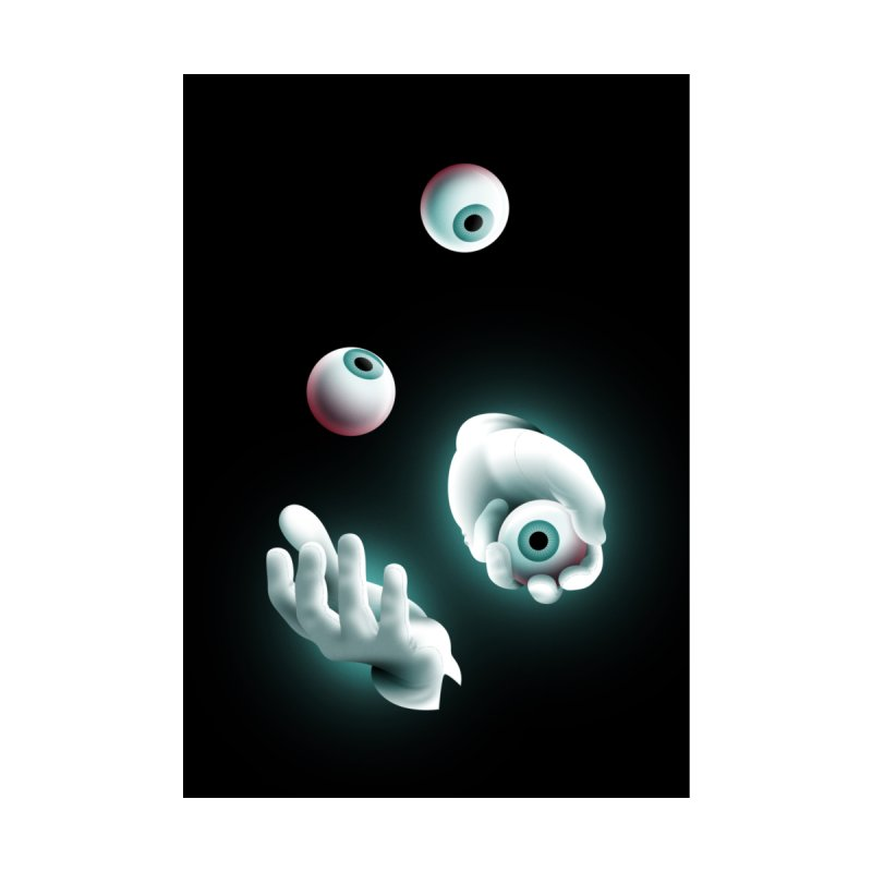 Eyeball Juggler Accessories Beach Towel by The Pure Bluff