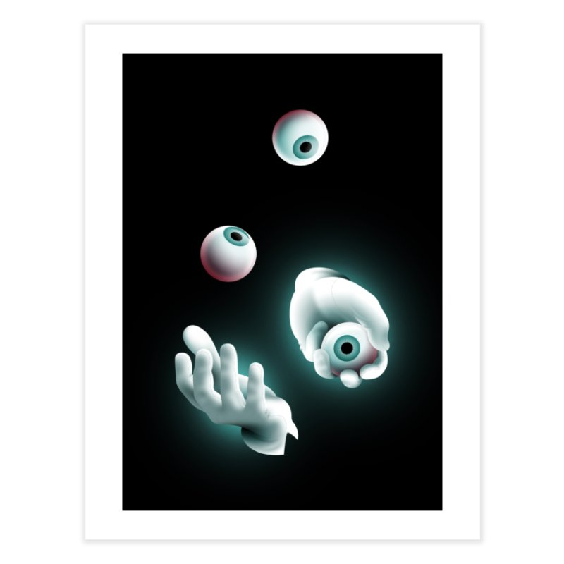 Eyeball Juggler Home Fine Art Print by The Pure Bluff