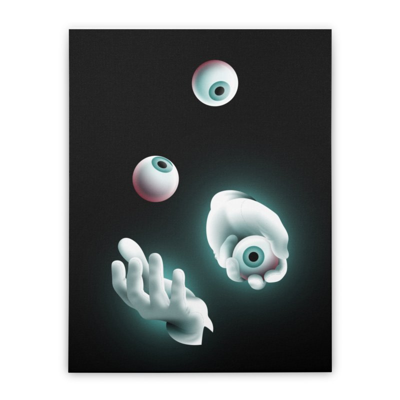 Eyeball Juggler Home Stretched Canvas by The Pure Bluff