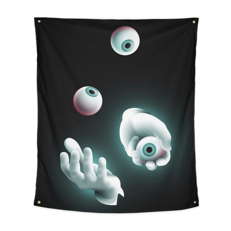 Eyeball Juggler Home Tapestry by The Pure Bluff