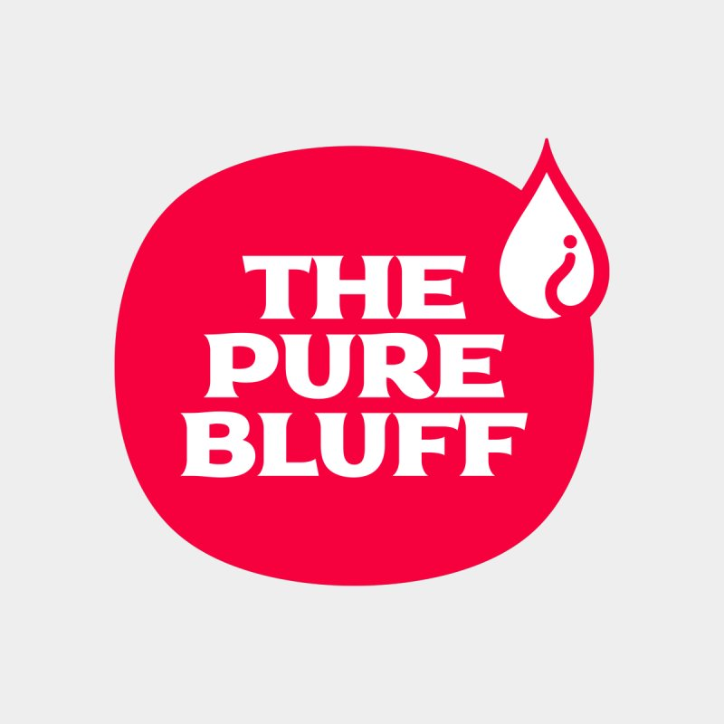 The Pure Bluff Logo (Red) — APPAREL Men's T-Shirt by The Pure Bluff