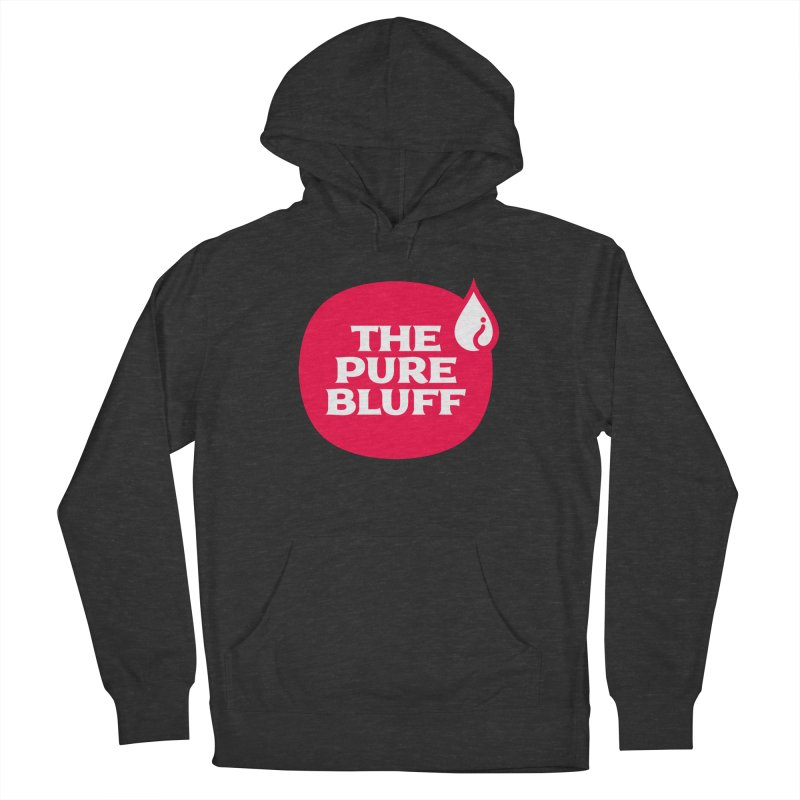 The Pure Bluff Logo (Red) — APPAREL Women's French Terry Pullover Hoody by The Pure Bluff