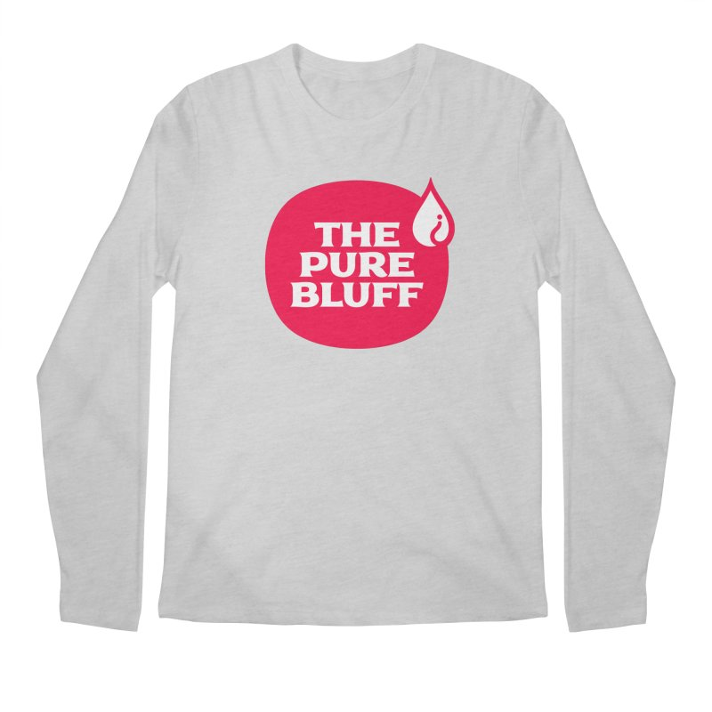 The Pure Bluff Logo (Red) — APPAREL Men's Regular Longsleeve T-Shirt by The Pure Bluff
