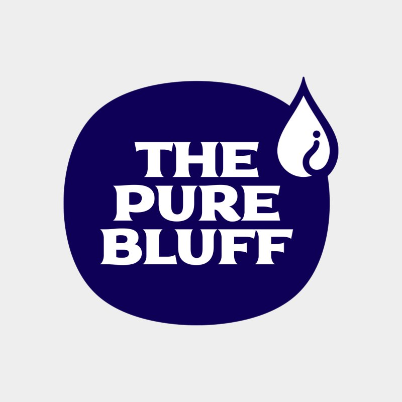 The Pure Bluff Logo (Blue) — APPAREL Men's T-Shirt by The Pure Bluff