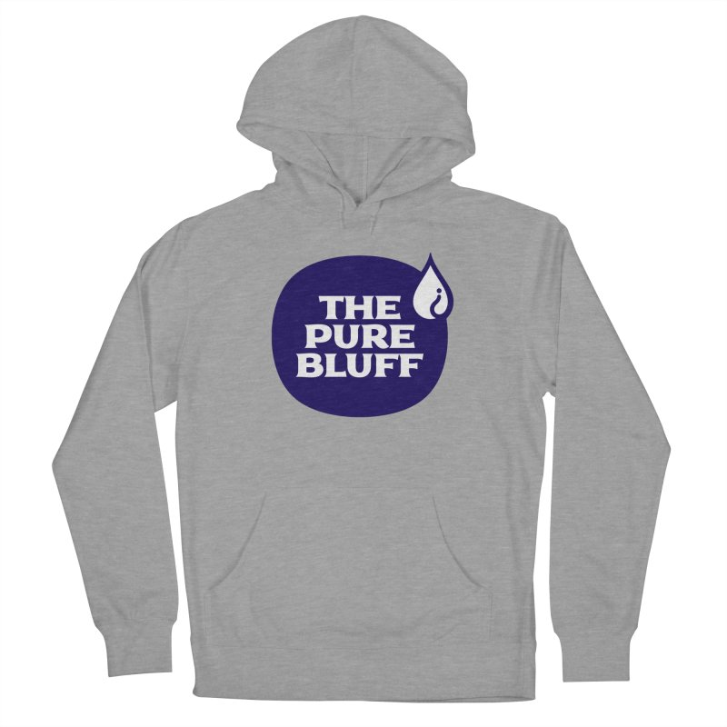 The Pure Bluff Logo (Blue) — APPAREL Women's Pullover Hoody by The Pure Bluff