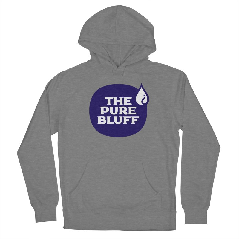 The Pure Bluff Logo (Blue) — APPAREL Women's French Terry Pullover Hoody by The Pure Bluff