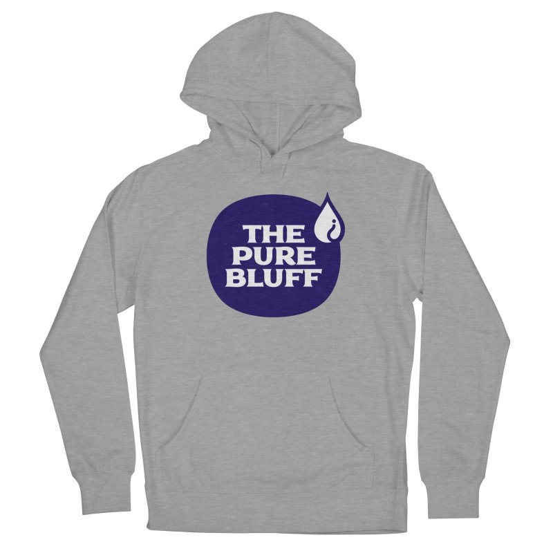 The Pure Bluff Logo (Blue) — APPAREL Men's French Terry Pullover Hoody by The Pure Bluff