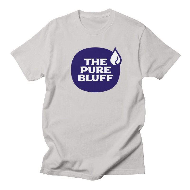 The Pure Bluff Logo (Blue) — APPAREL Men's Regular T-Shirt by The Pure Bluff