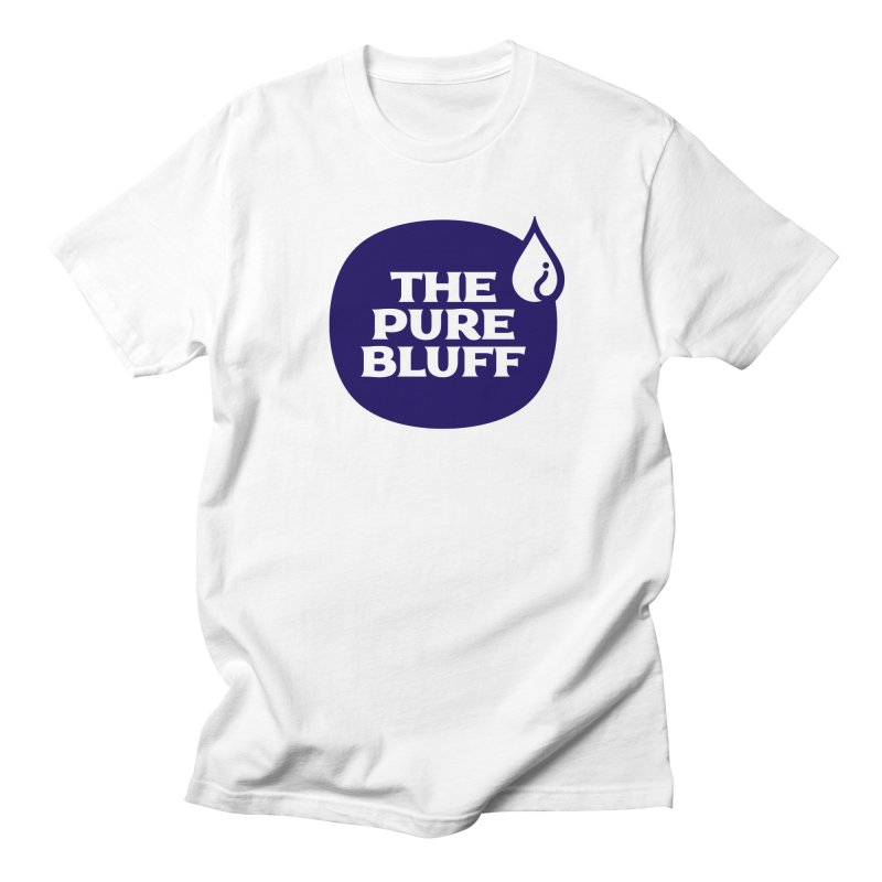 The Pure Bluff Logo (Blue) — APPAREL Women's Regular Unisex T-Shirt by The Pure Bluff
