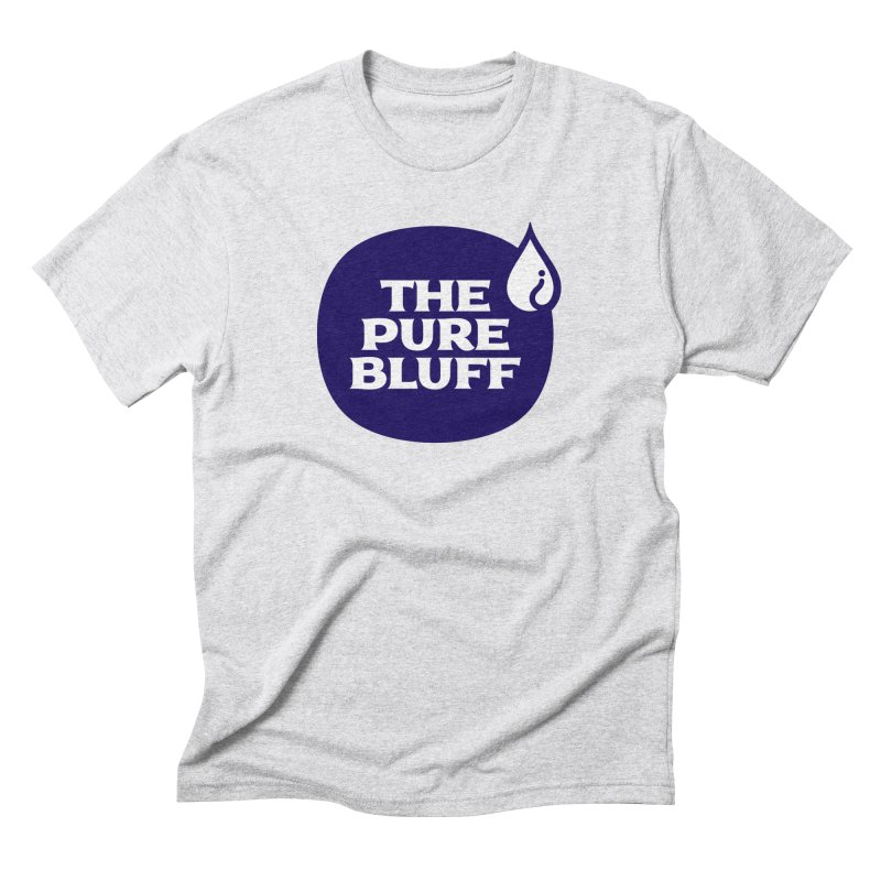 The Pure Bluff Logo (Blue) — APPAREL Men's Triblend T-Shirt by The Pure Bluff