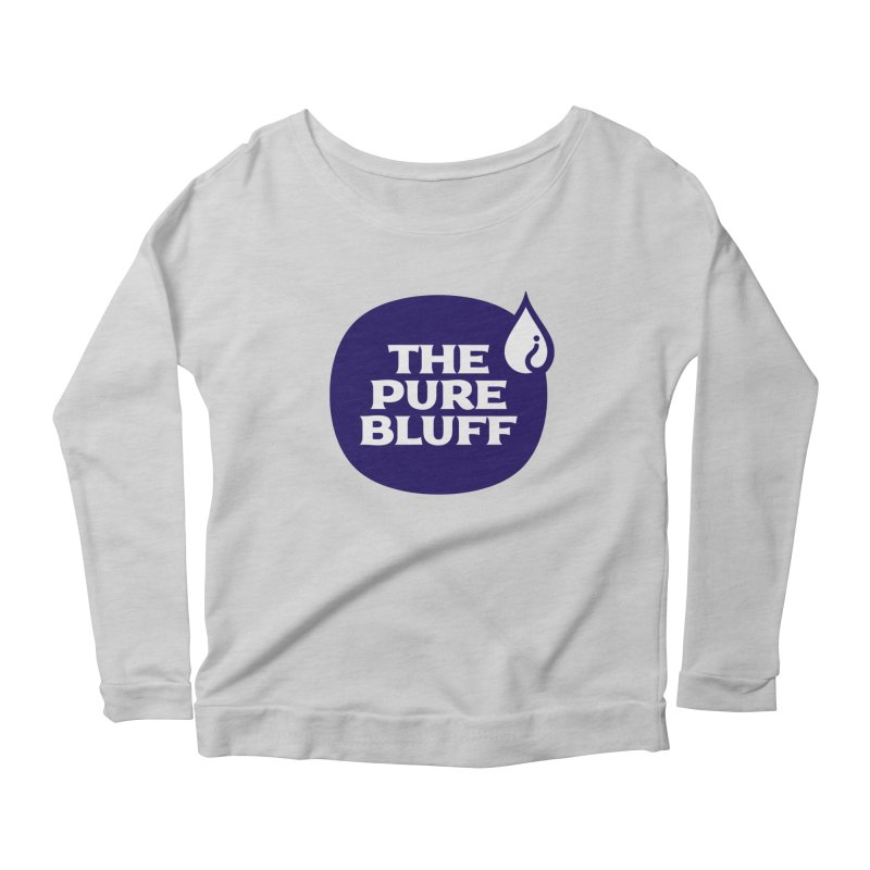 The Pure Bluff Logo (Blue) — APPAREL Women's Scoop Neck Longsleeve T-Shirt by The Pure Bluff