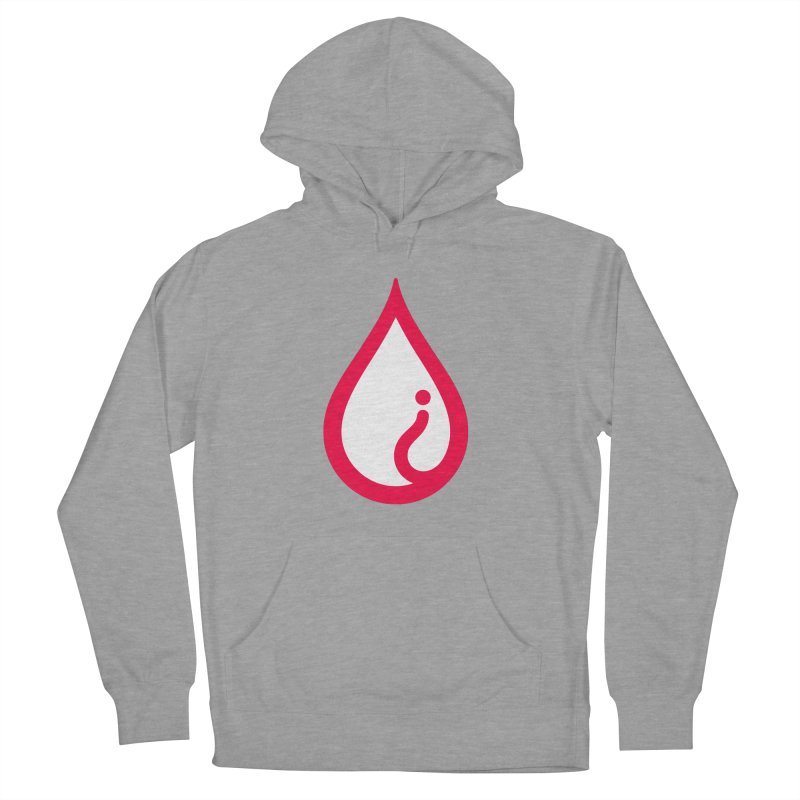 The Pure Bluff Drop Icon (Red) — APPAREL Women's French Terry Pullover Hoody by The Pure Bluff