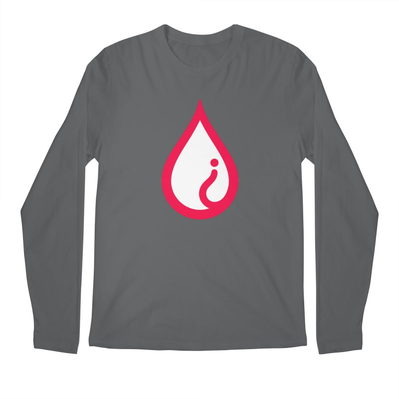 The Pure Bluff Drop Icon (Red) — APPAREL Men's Longsleeve T-Shirt by The Pure Bluff