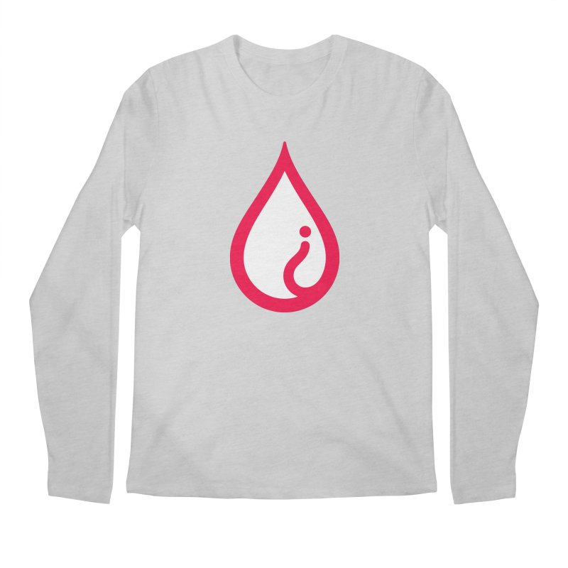 The Pure Bluff Drop Icon (Red) — APPAREL Men's Regular Longsleeve T-Shirt by The Pure Bluff