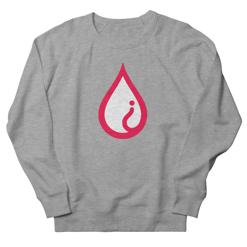 The Pure Bluff Drop Icon (Red) — APPAREL Women's French Terry Sweatshirt by The Pure Bluff