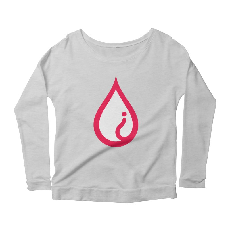The Pure Bluff Drop Icon (Red) — APPAREL Women's Scoop Neck Longsleeve T-Shirt by The Pure Bluff
