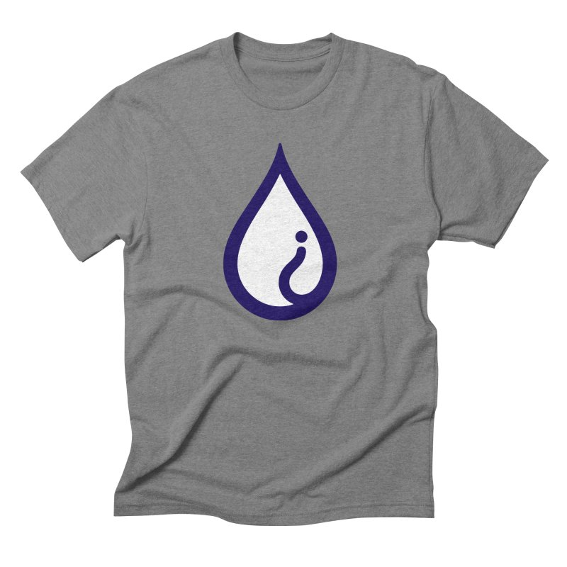 The Pure Bluff Drop Icon (Blue) — APPAREL Men's T-Shirt by The Pure Bluff