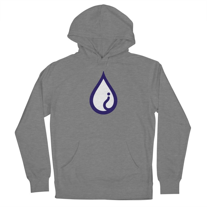 The Pure Bluff Drop Icon (Blue) — APPAREL Men's French Terry Pullover Hoody by The Pure Bluff