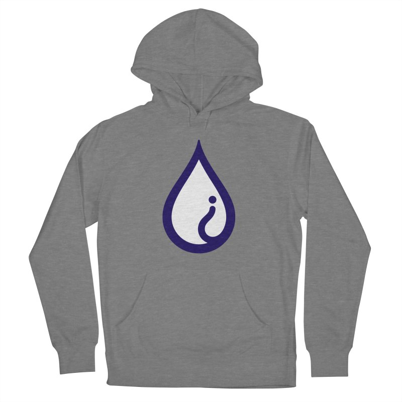 The Pure Bluff Drop Icon (Blue) — APPAREL Women's French Terry Pullover Hoody by The Pure Bluff