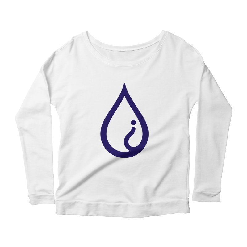The Pure Bluff Drop Icon (Blue) — APPAREL Women's Scoop Neck Longsleeve T-Shirt by The Pure Bluff