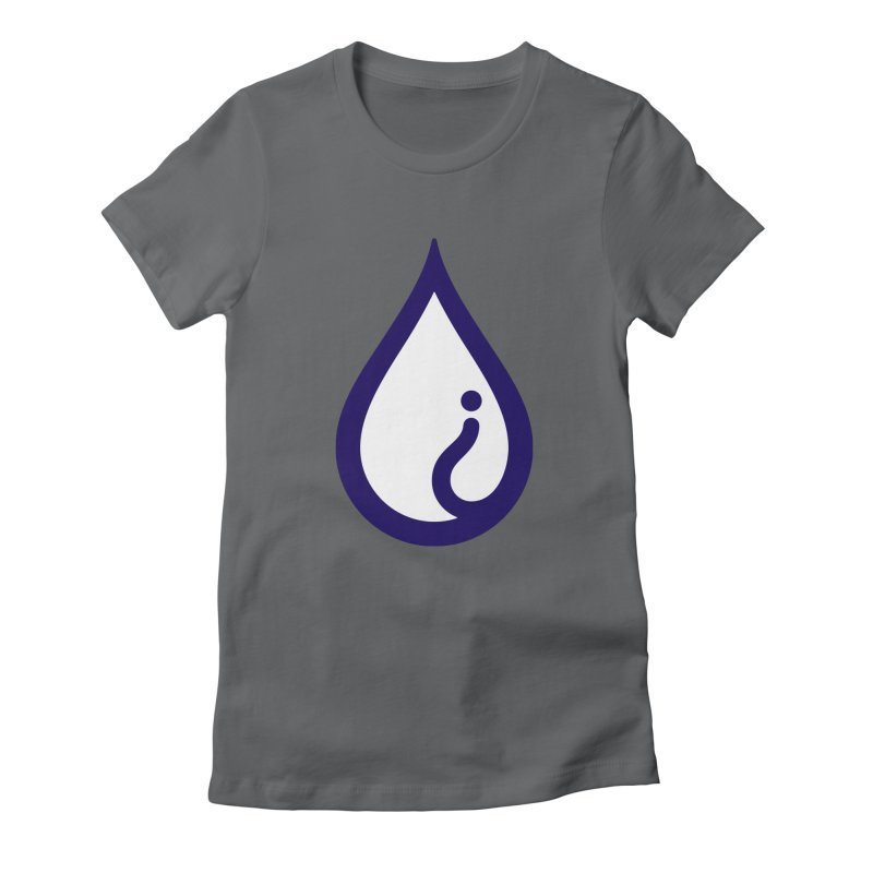The Pure Bluff Drop Icon (Blue) — APPAREL Women's Fitted T-Shirt by The Pure Bluff