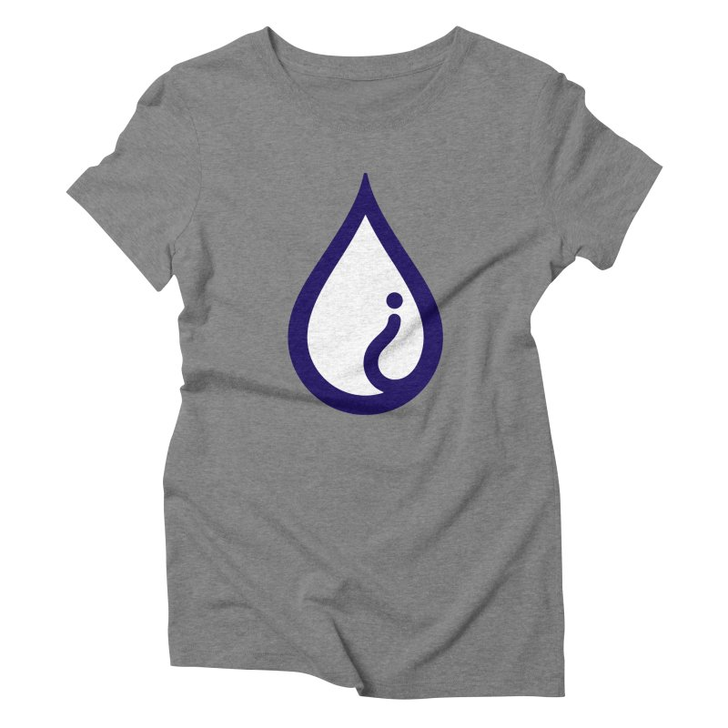 The Pure Bluff Drop Icon (Blue) — APPAREL Women's Triblend T-Shirt by The Pure Bluff