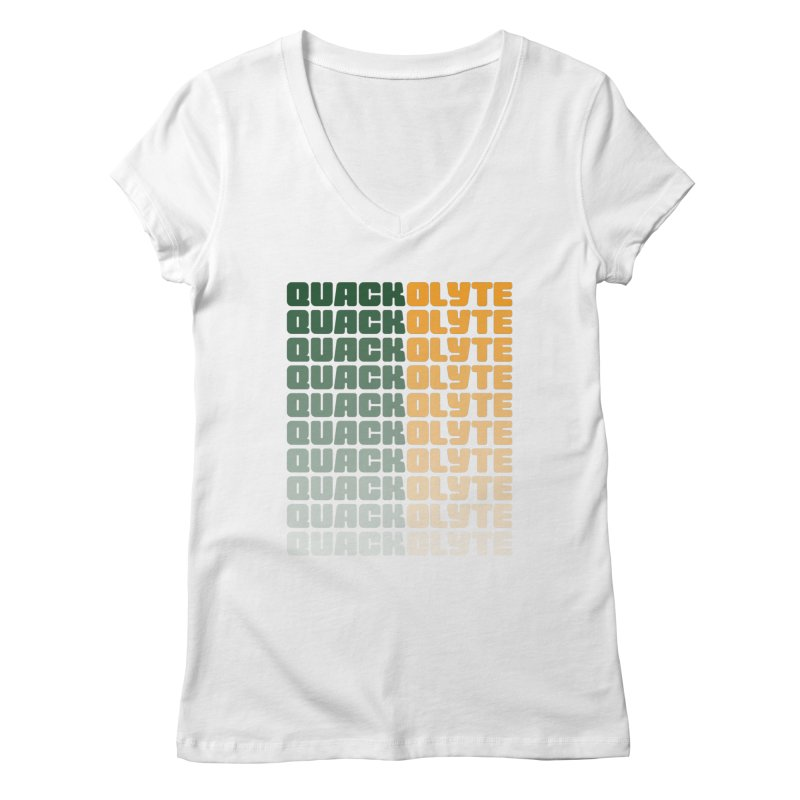 The Quackolyte II Women's V-Neck by The Quack Attack