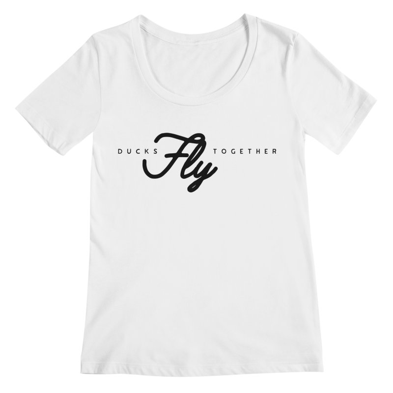 The Mantra Women's Regular Scoop Neck by The Quack Attack