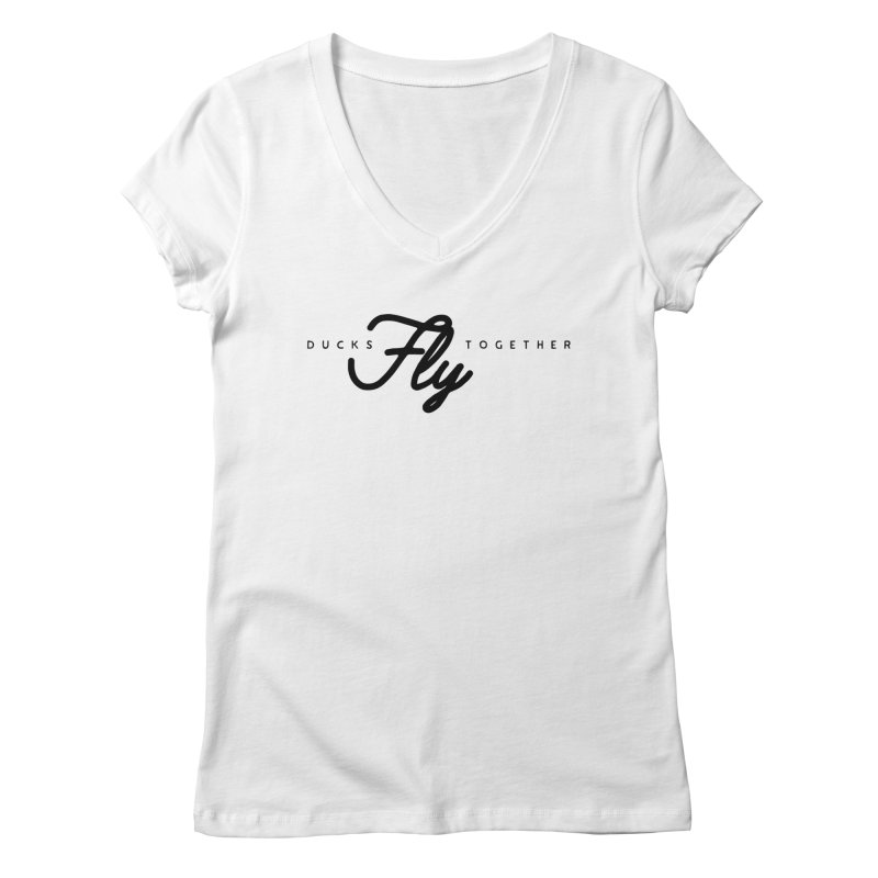 The Mantra Women's V-Neck by The Quack Attack