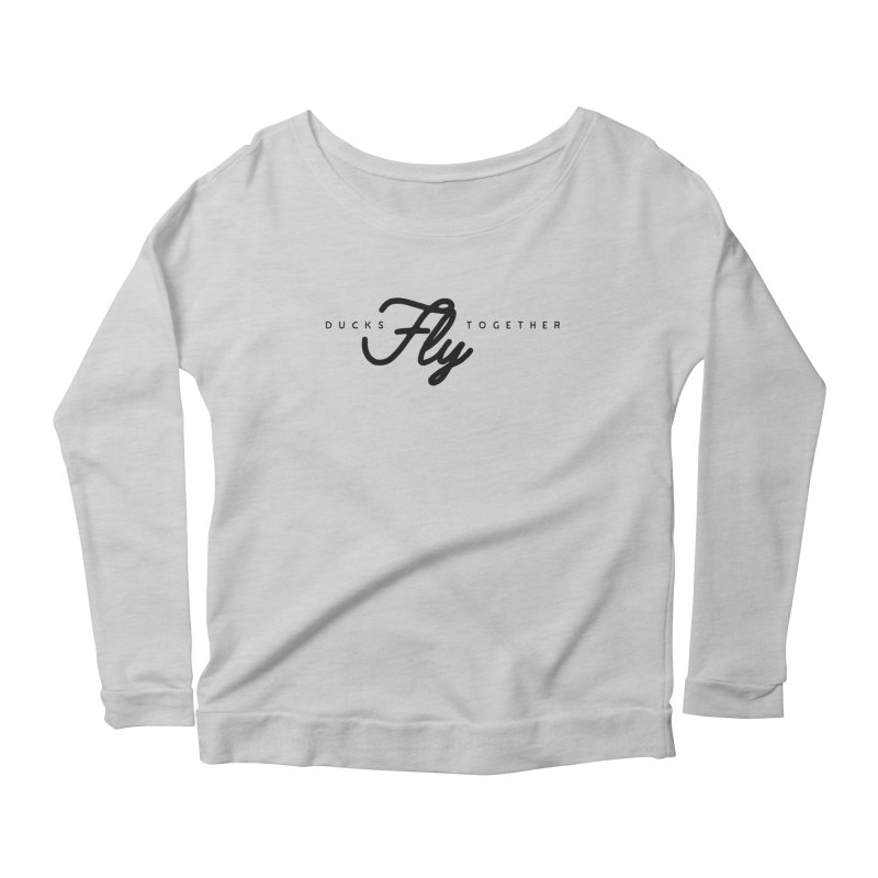 The Mantra Women's Longsleeve Scoopneck  by The Quack Attack