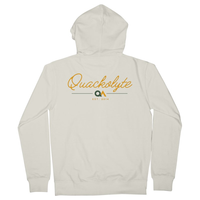 The Quackolyte Men's French Terry Zip-Up Hoody by The Quack Attack