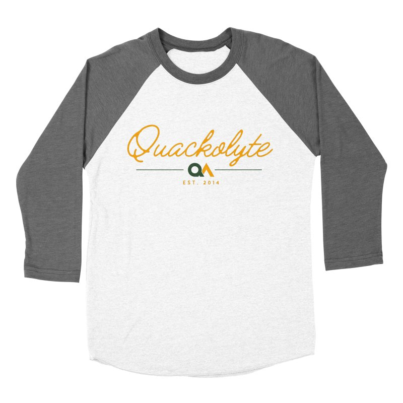 The Quackolyte Women's Baseball Triblend Longsleeve T-Shirt by The Quack Attack