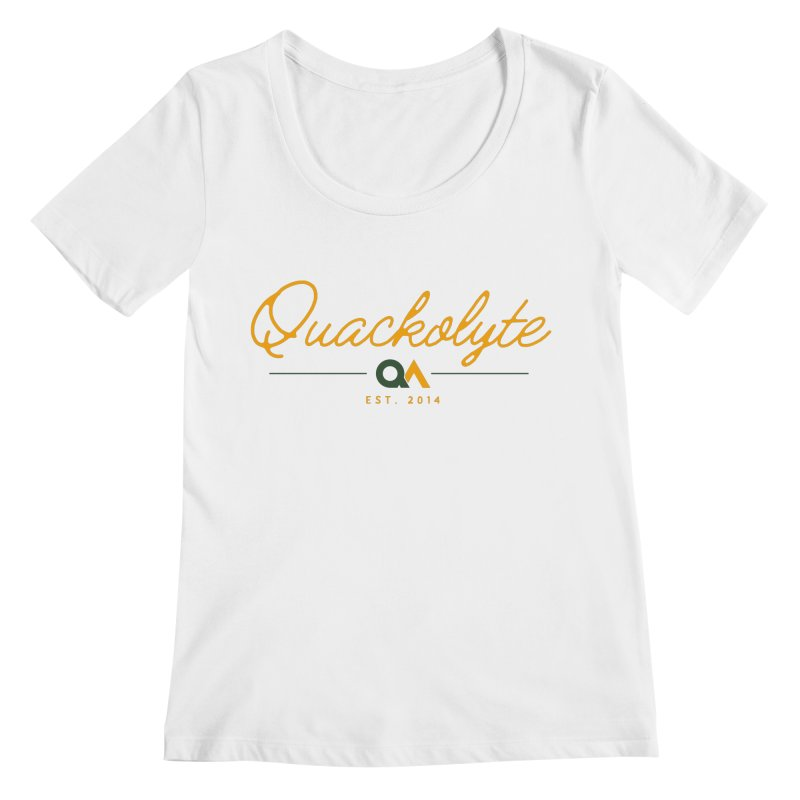 The Quackolyte Women's Regular Scoop Neck by The Quack Attack