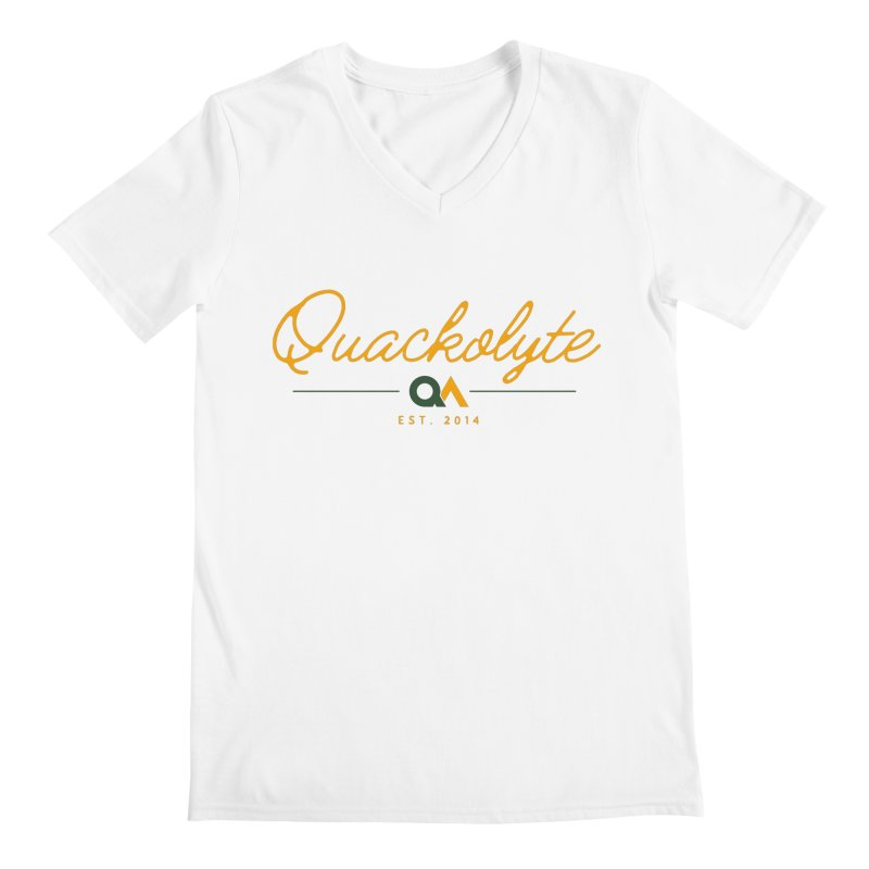 The Quackolyte Men's V-Neck by The Quack Attack