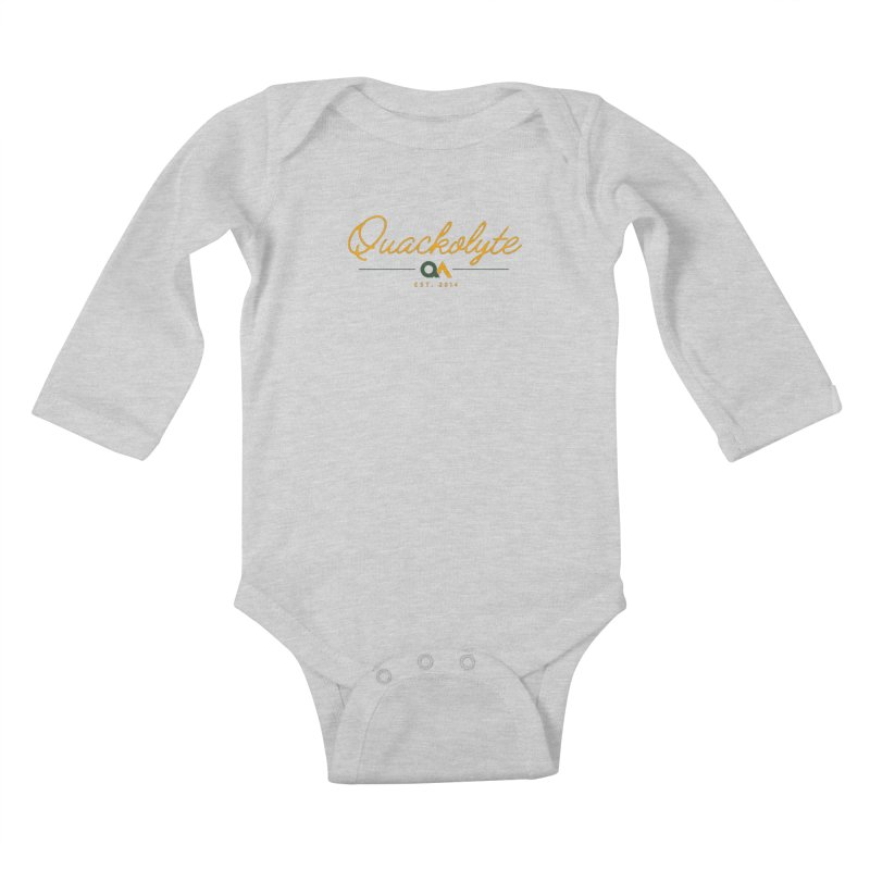 The Quackolyte Kids Baby Longsleeve Bodysuit by The Quack Attack