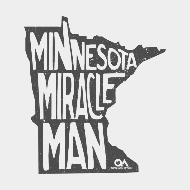 The Minnesota Miracle Man | Light Home Throw Pillow by The Quack Attack