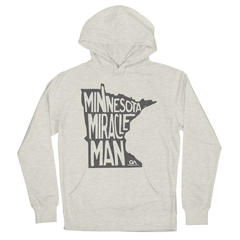 The Minnesota Miracle Man | Light Men's French Terry Pullover Hoody by The Quack Attack