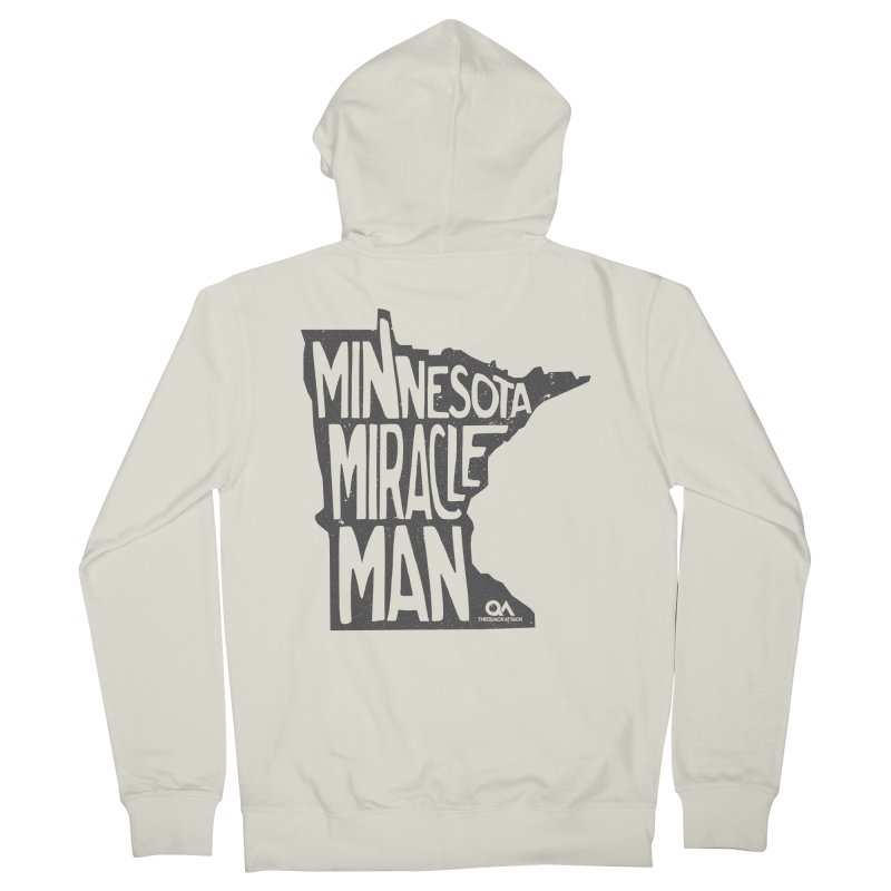 The Minnesota Miracle Man | Light Men's French Terry Zip-Up Hoody by The Quack Attack
