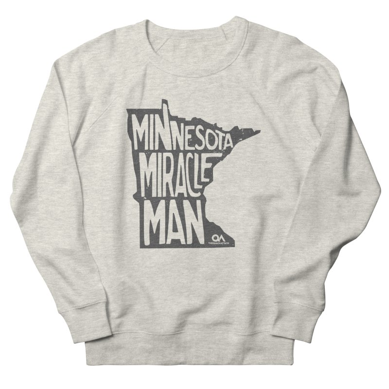 The Minnesota Miracle Man | Light Men's French Terry Sweatshirt by The Quack Attack