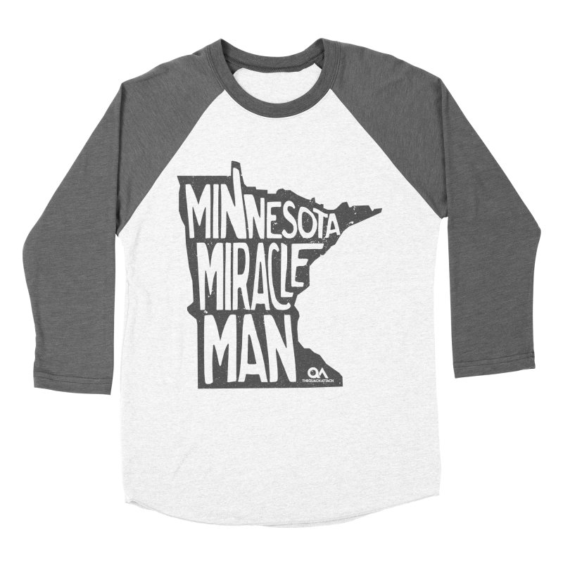 The Minnesota Miracle Man | Light Men's Baseball Triblend Longsleeve T-Shirt by The Quack Attack
