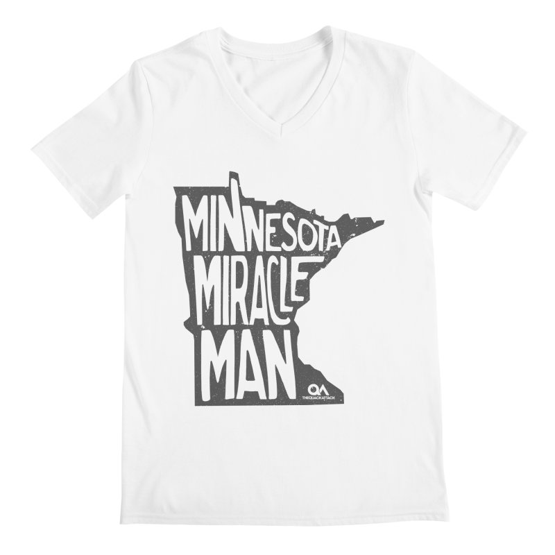 The Minnesota Miracle Man | Light Men's Regular V-Neck by The Quack Attack